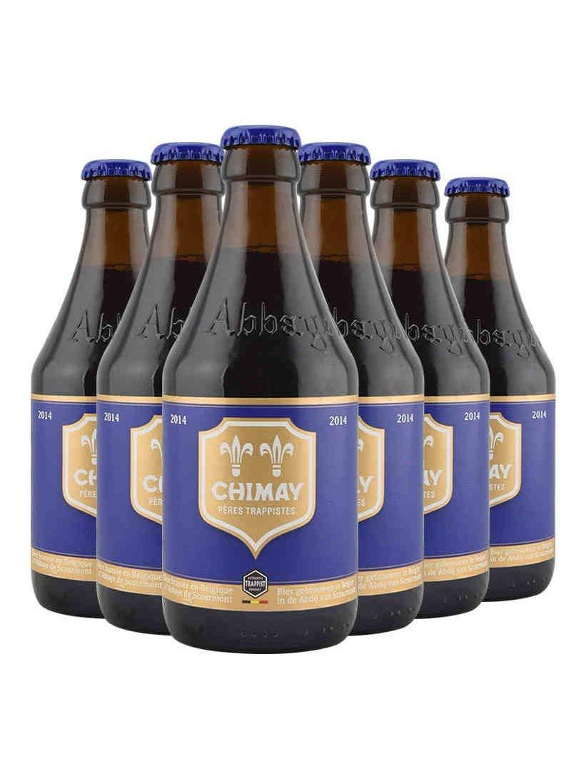 Zhimei Bỉ nhập khẩu thủ công bia 6 chai hương vị tùy chọn (màu xanh hat 6 chai)