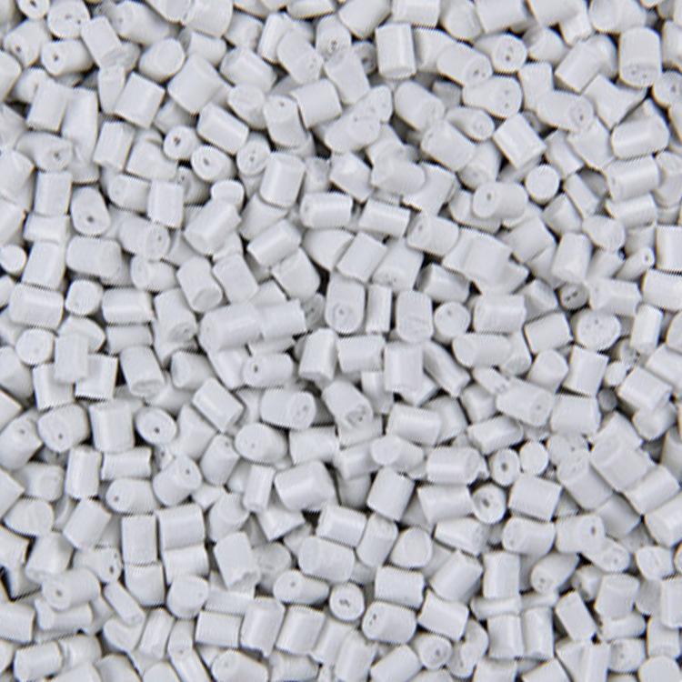 Nhà máy trực tiếp titan trắng ABS vật liệu tái chế hạt nhựa màu tùy chỉnh lớp đầu tiên sữa trắng ABS