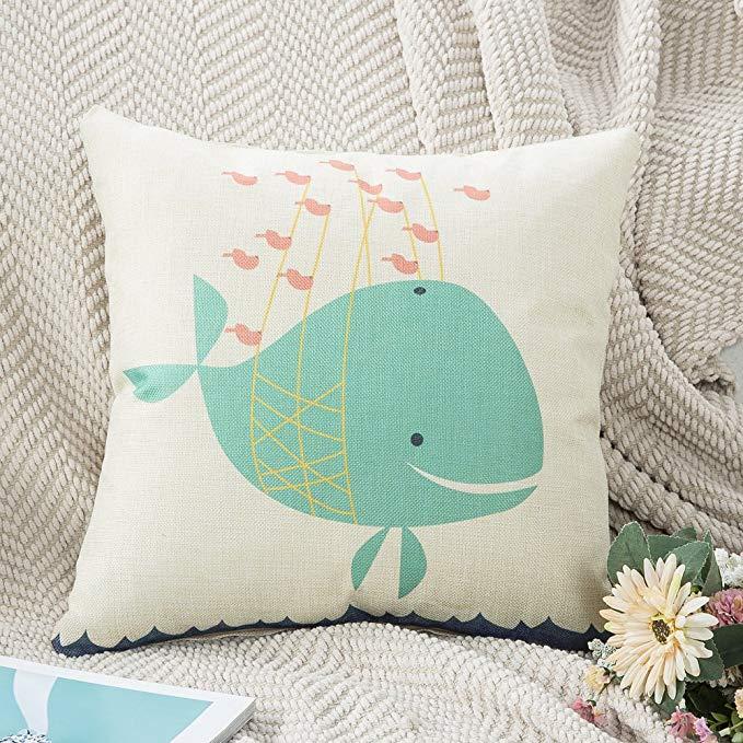 Những chiếc Gối Đệm Sofa sáng tạo với Kiểu in logo hình cá heo.