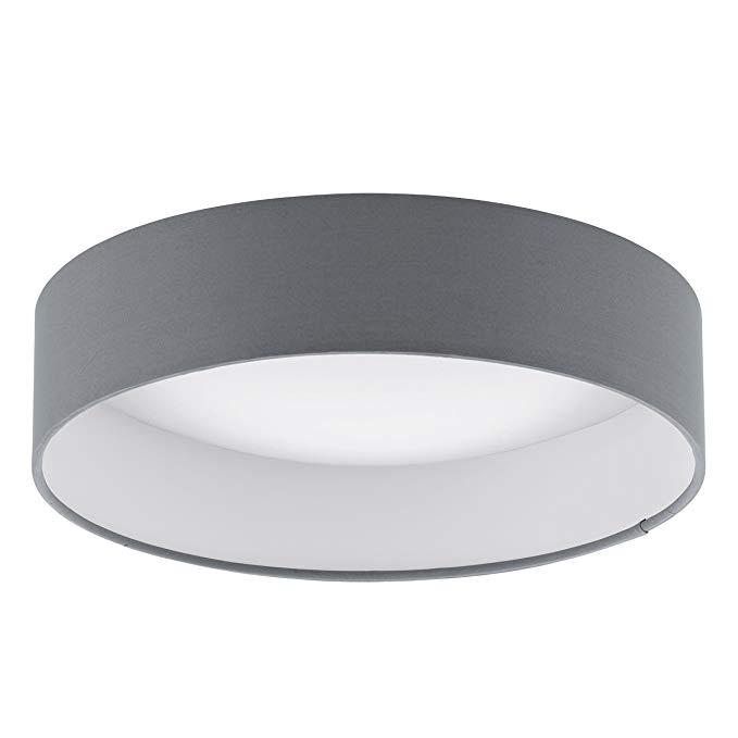 Đèn Led Ốp trần vải Palomaro đường kính 32 cm, nhựa, than đen / trắng .