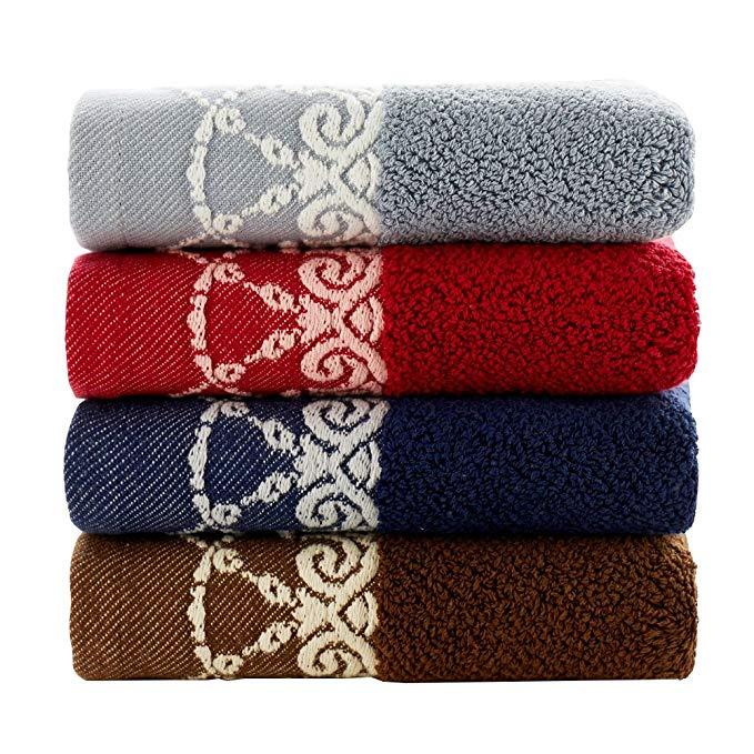 Vàng Số Royal Series Cotton Khăn 4 Gói Satin Tinh Tế Tập Tin 540 gam Tăng Dày 34 × 70 cm Mềm Fluffy