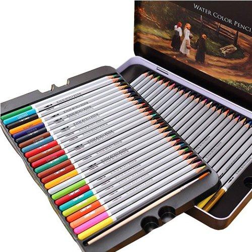 Hiệu quả 72 màu tan trong nước bút chì màu 48 màu tan trong nước màu chì 24 màu 36 màu sơn màu bút m