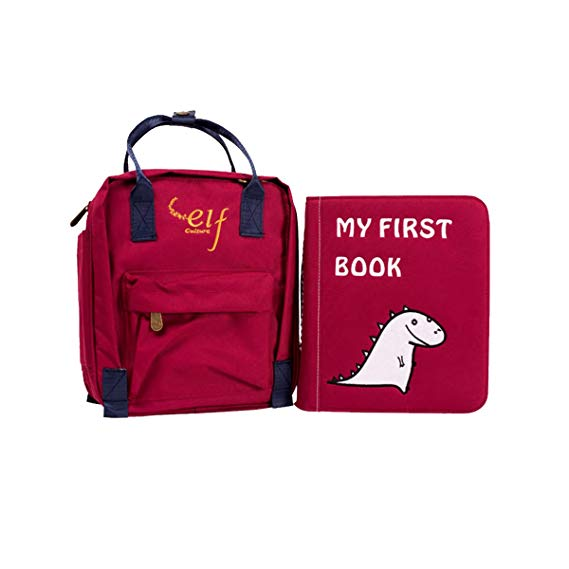 Cuốn sách vải đầu tiên của em bé cuốn sách vải của trẻ em Montessori vải đỏ [1-3 tuổi]