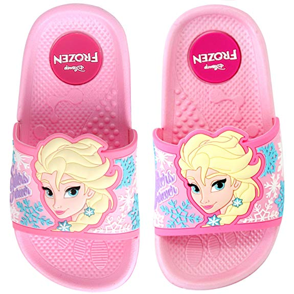 Dép nhựa trẻ em màu hồng Disney Frozen