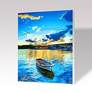 EMIT Meite Dầu Digital Painting Cotton Canvas Gỗ Rắn Khung Hình 40 * 50 cm DIY Tay sơn Phòng Khách P