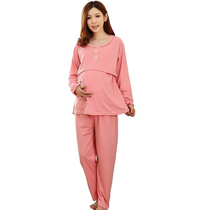Ciyan CIYAN mùa thu và mùa đông thai sản dress thai sản đồ ngủ tháng quần áo cho con bú phụ nữ mang