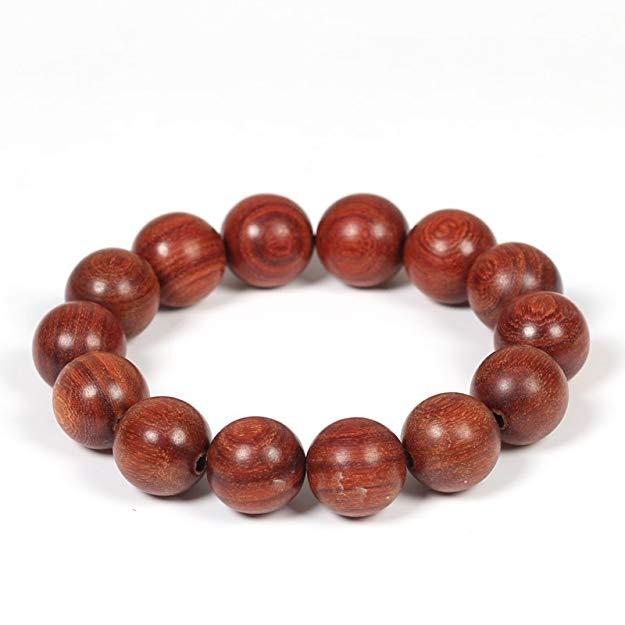 Vòng tay hạt gỗ đàn hương đỏ Moting