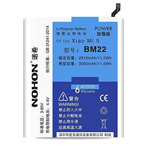 Xiaomi 5 pin điện thoại di động xiao mi 5 pin BM22 bảng điện dung lượng cao được xây dựng trong pin