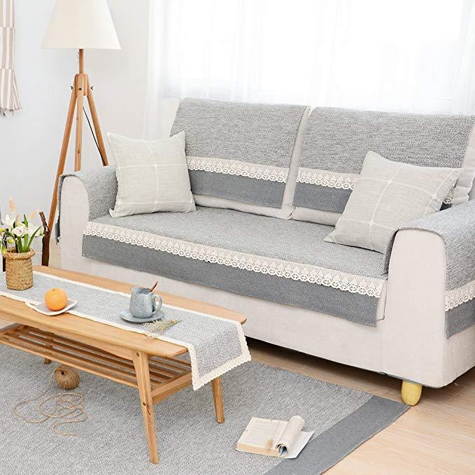 Le Wei Shi vải cotton dệt sofa đệm đệm dày bốn mùa non-slip sofa bìa sofa bìa có thể được tùy chỉnh