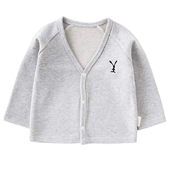 Pureborn bé áo len cậu bé cô gái cardigan mùa xuân và mùa thu
