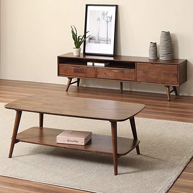 Nội Thất cho phòng khách : Tủ kệ Tivi và Bàn cà phê thiết kế đơn giản và hiện đại .