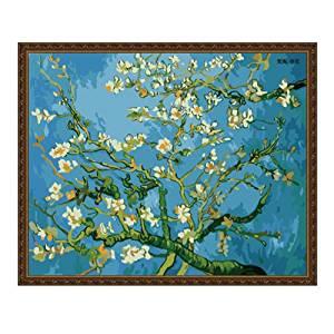 EMIT Meite Cotton Canvas Dầu Digital Painting Dày Khung Gỗ Rắn 40 * 50 cm DIY Van Gogh Bức Tranh Nổi