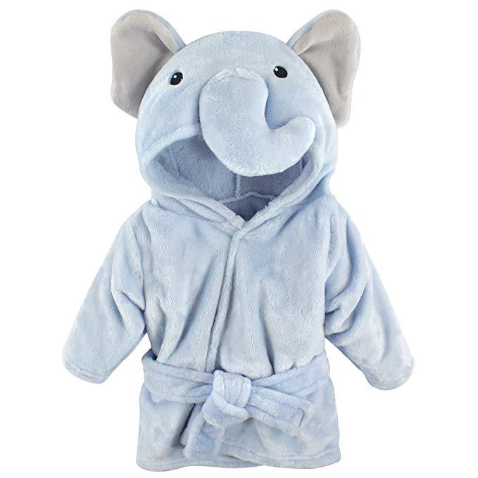 Hudson Baby Baby Animal Áo choàng tắm sang trọng Blue Elephant 0-9 tháng