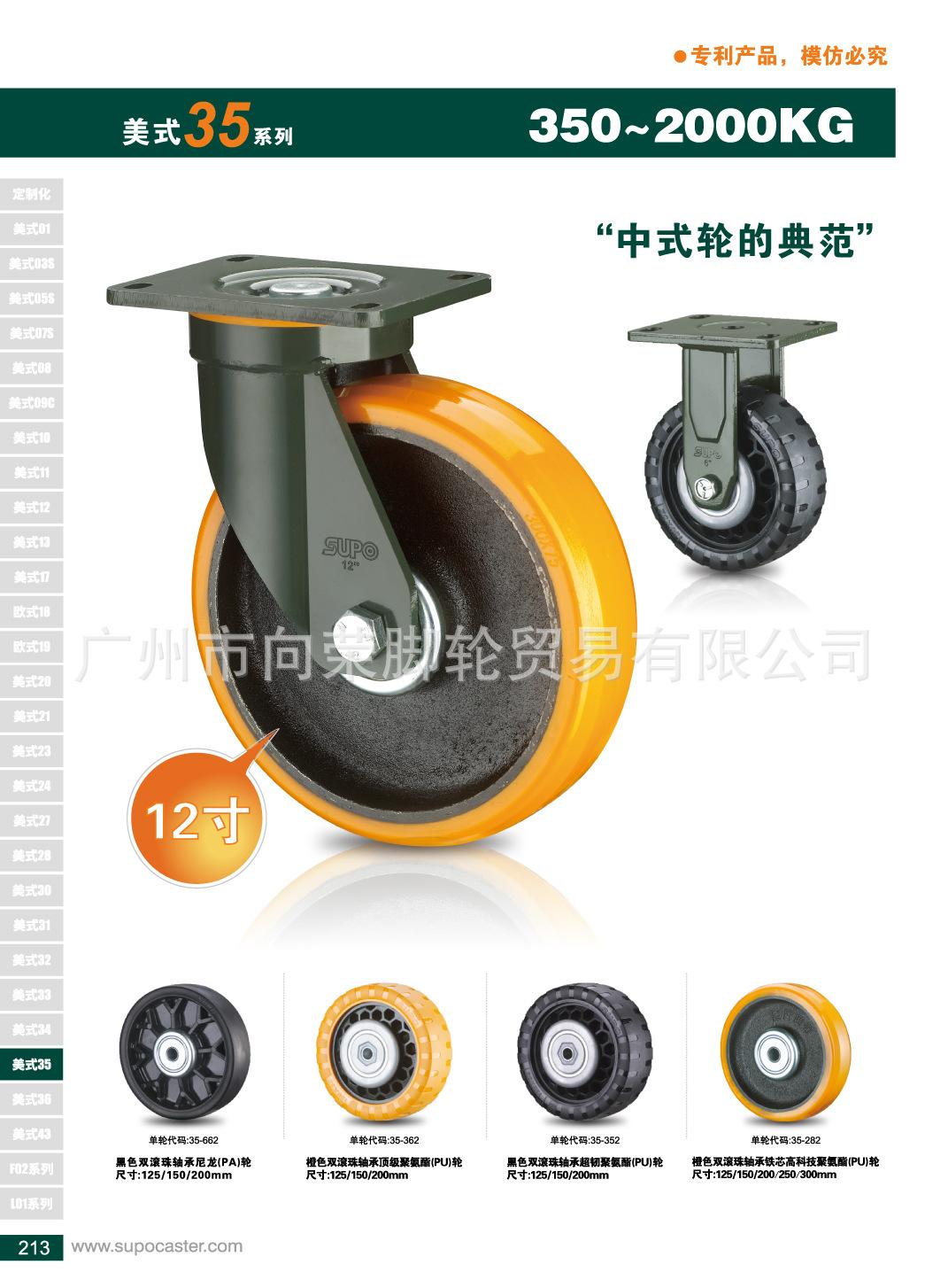 SUPO J35 khoản 10 inch thấp tập trung sửa định phổ nylon bánh xe máy công nghiệp siêu nặng mài mòn