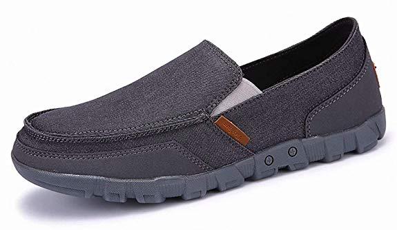 Giày mọi xám vải nhung kiểu dáng gọn nhẹ, thời trang