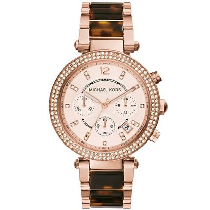Michael Kors xem mk túi nữ vành đai thép lịch ba mắt kim cương nước kim cương Anh nữ đồng hồ MK5538