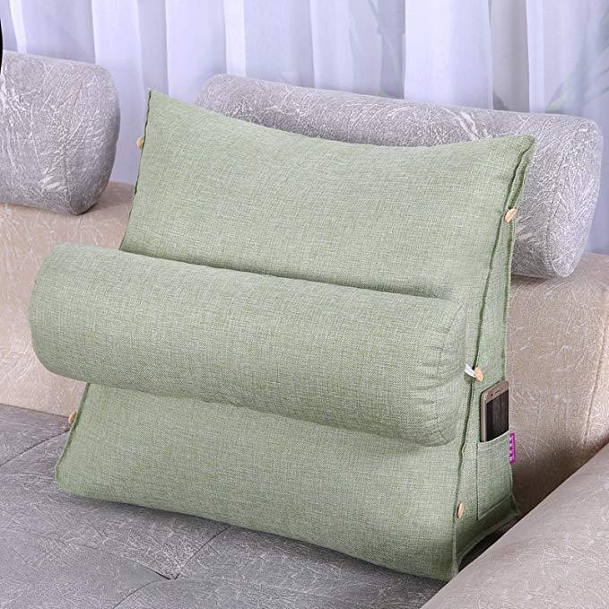 Gối Ôm tựa lưng ghế sofa tam giác đệm lớn , đơn giản và sang trọng .