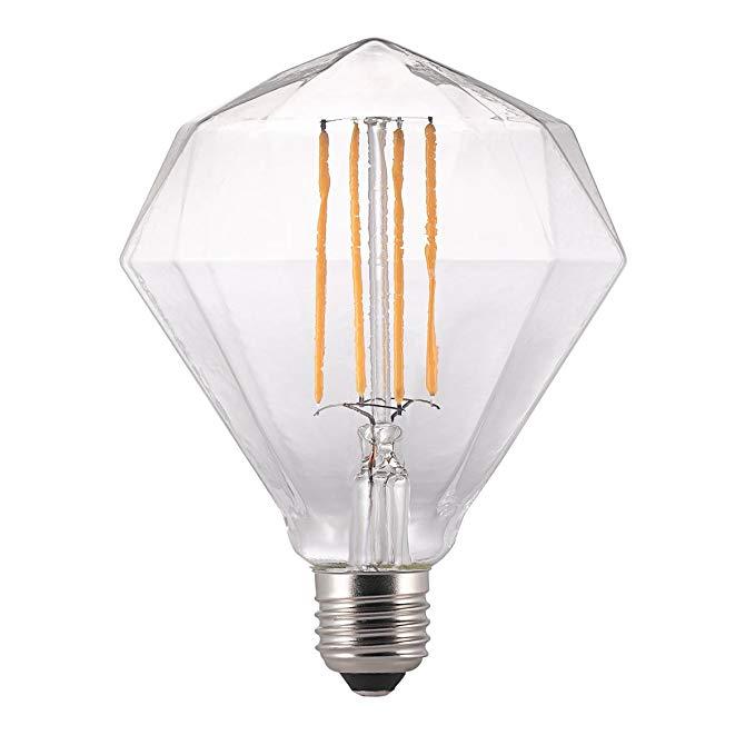 Đèn kim cương, thủy tinh, trong suốt, E27, 2.0 watt