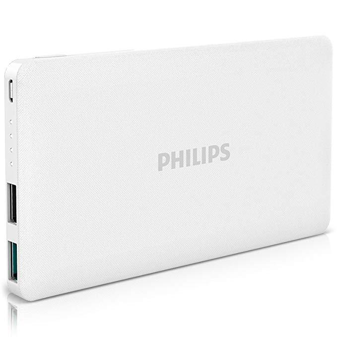 Philips Philips Dung lượng lớn 10.000 mAh điện thoại di động phổ siêu mỏng điện thoại di động sạc kh