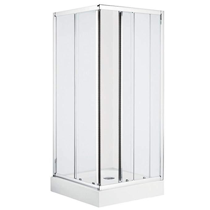 Bồn đứng tắm : Phòng tắm cửa trượt vuông tiêu chuẩn Mỹ 90X90.