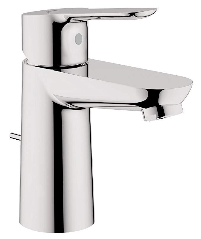 Vòi nước thép không gỉ dùng cho bồn rửa tay nhà tắm .