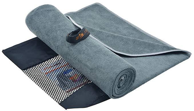 Sunland siêu thấm du lịch khăn nhanh khô sợi nhỏ thể thao khăn khăn tập thể dục