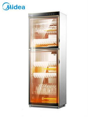 Đẹp tủ khử trùng hộ gia đình dọc tự động tủ bộ đồ ăn làm sạch tủ 300L thương mại cửa kép công suất l