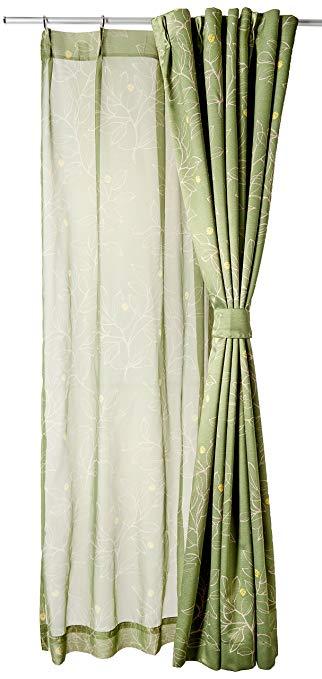 Dòng BELLUNA mô tả màn rèm cửa & kiểu dáng tương tự của bộ đồ Boyle Màu xanh lá cây Xấp xỉ dài 100 x