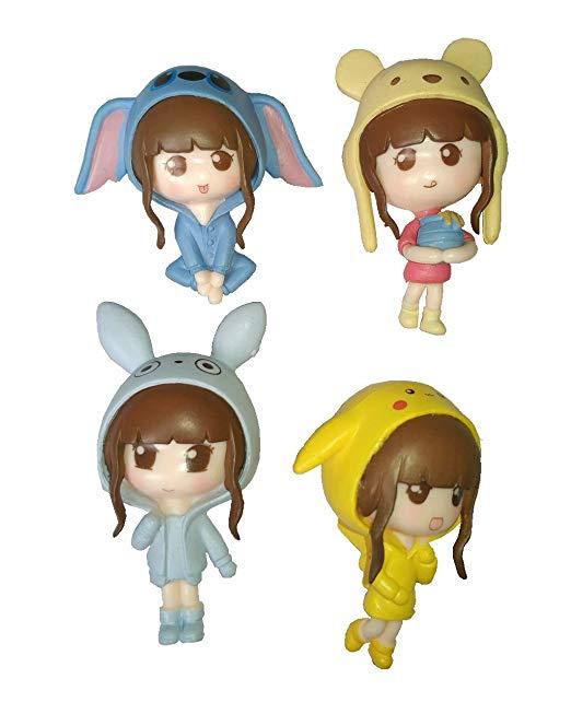 4 cái dễ thương cô gái trẻ tiên vườn suite figurine trang trí tiên vườn nhà Hồ Cạn phù hợp với đồ ch