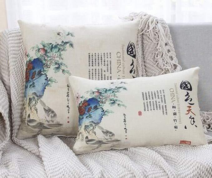 Những chiếc Gối Đệm Sofa sáng tạo với Kiểu in logo phong cách Trung Quốc .