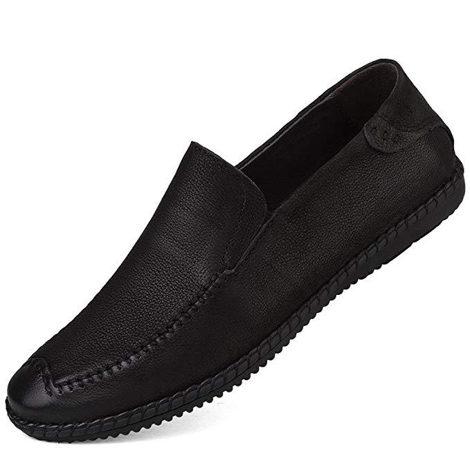 Giày mọi da nam màu đen XIMO BULL XM130-X7199-X