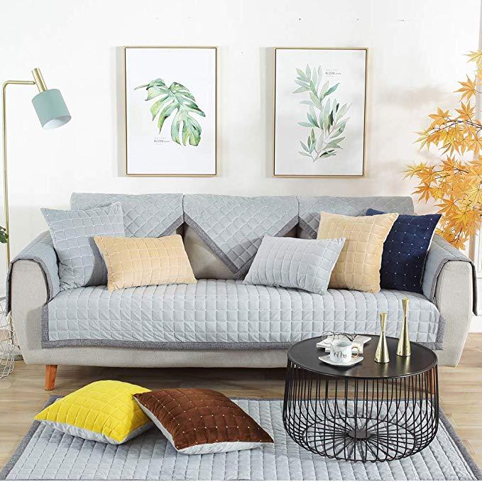 S-EMIGA Shangmeijia Dày sang trọng sofa đệm flannel mùa thu và mùa đông ấm sofa khăn sofa bìa đệm mà