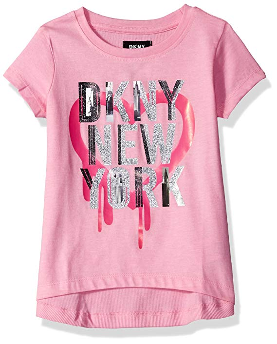 Áo thun nữ tay ngắn màu hồng DKNY