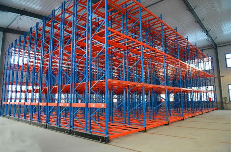 Các nhà sản xuất điện Thiên Tân shelves Mobile di chuyển Rack dầm nặng loại kệ kho thông minh