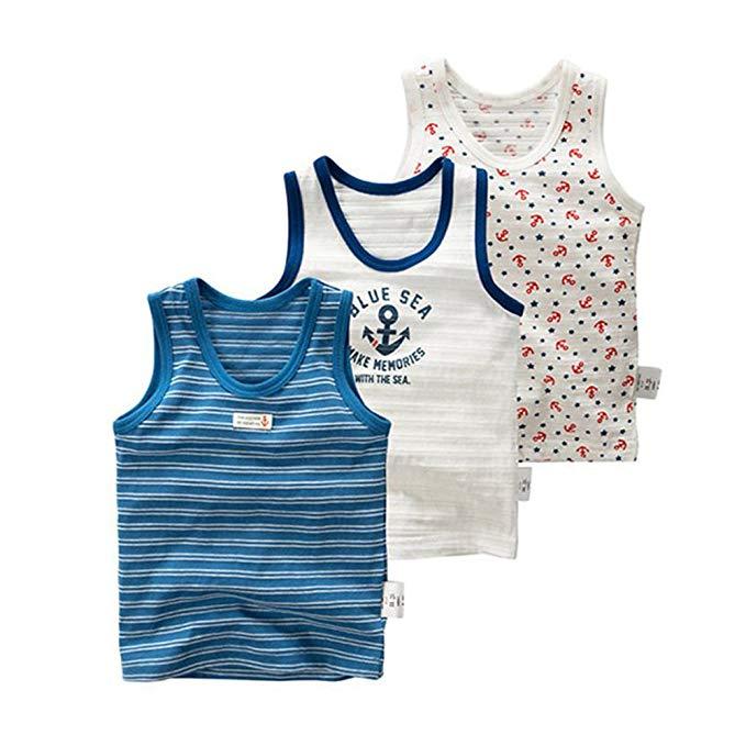Naturhand Nanhe Xuất Khẩu Trẻ Em Mặc Chàng Trai Mùa Hè Vest Cotton Mỏng Một Lớp Không Có huỳnh quang