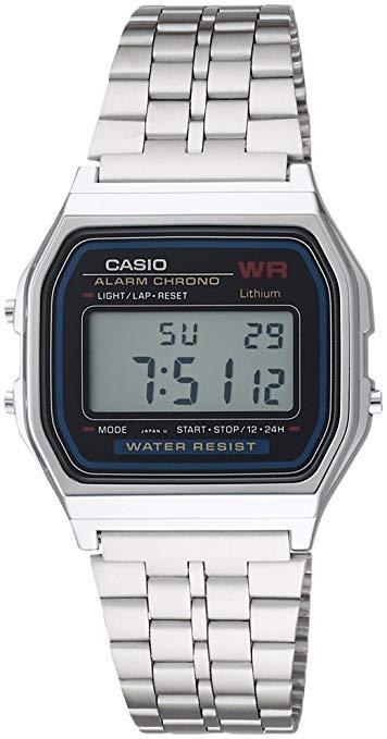ĐỒNG HỒ CASIO A159W-N1DF Điện tử - Dây kim loại .