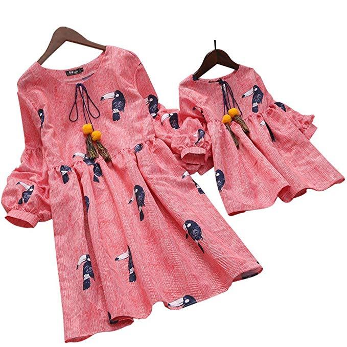 Thời Trang cho Gia đình : Đầm thời trang kiểu baby doll cho mẹ và bé .