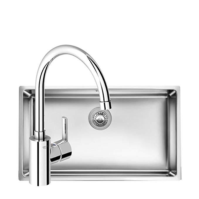 Vật dụng cho Nhà bếp : bồn rửa chén gồm Vòi nóng và lạnh .