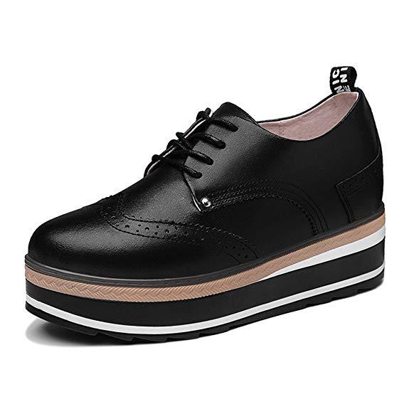 Giày da đế cao giúp tăng chiều cao hiệu quả