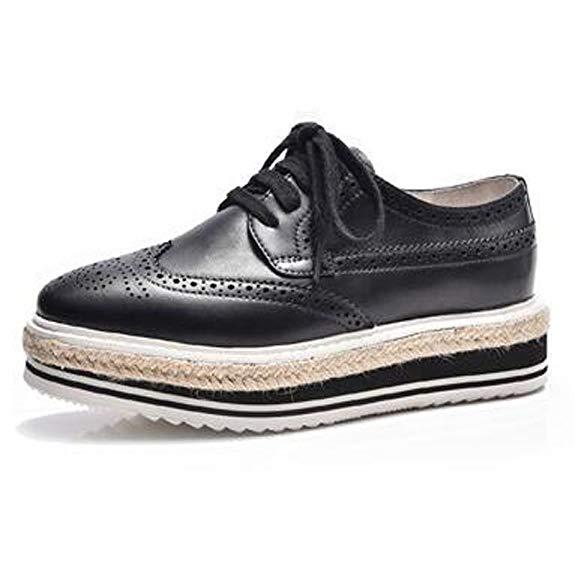 Giày da thể thao có thắt dây và tăng chiều cao BeauToday