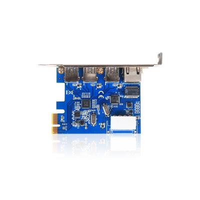 Card mạng mở rộng GIGABIT PCI-e có thêm 3 khe cắm USB 3.0