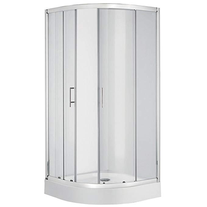 Bồn đứng tắm : Phòng tắm bằng kính cường lực cửa trượt  90X90