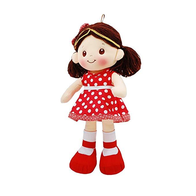 Linzy Sofia Rag búp bê với polka dot dress, đỏ 40,64 cm