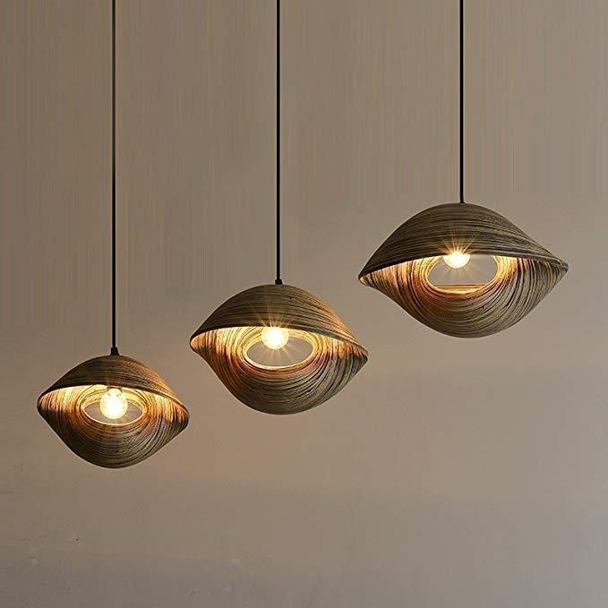 Tre bện đèn nghệ thuật đèn chùm Thiết Kế phong cách Đông Nam Á sáng tạo chiếu sáng restaurant bar án