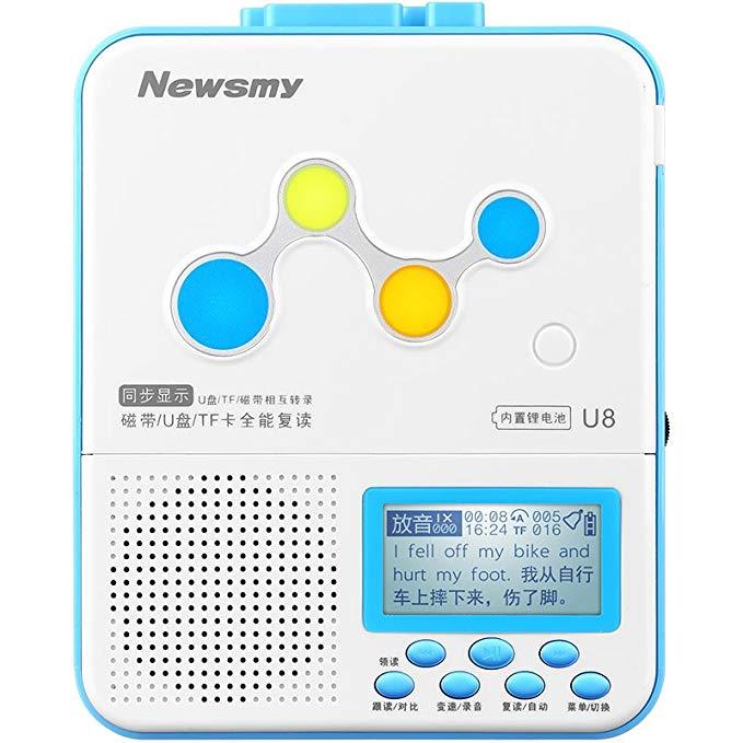 Máy ghi âm kiêm máy nghe nhạc mp3, học tiếng anh Newsmy