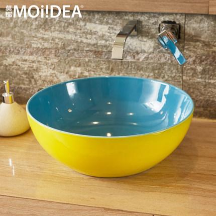 Moye chậu rửa phòng tắm lưu vực trên lưu vực truy cập vòng chậu rửa chậu rửa lưu vực nghệ thuật gốm