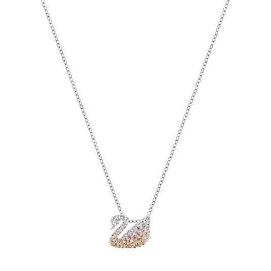 Thương hiệu  swarovski  vòng cổ  bằng vàng , mặt dây chuyền hình thiên nga đính đá