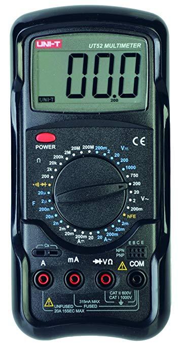 Đồng hồ đo điện trở vạn năng số UNI-T màu đen UT52
