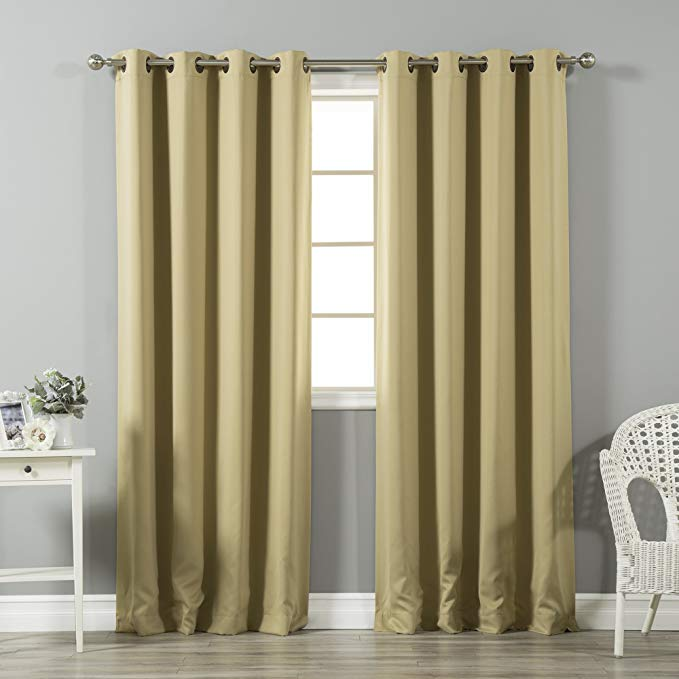 Tốt nhất nhà phong cách nhiệt màn Curtain - Vintage Bronze thùa Top - 132.08 cm Chiều rộng x 213.36