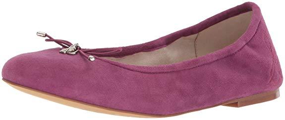 Giày nữ vải nhung mềm màu hồng Sam Edelman